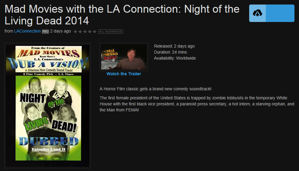 Mad Movies with the LA Connection: Night of the Living Dead 2014